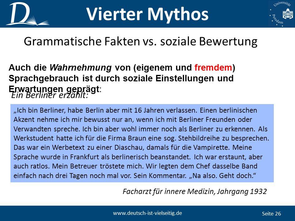 """Seite 26 www.deutsch-ist-vielseitig.de """"Ich bin Berliner, habe Berlin aber mit 16 Jahren verlassen."""