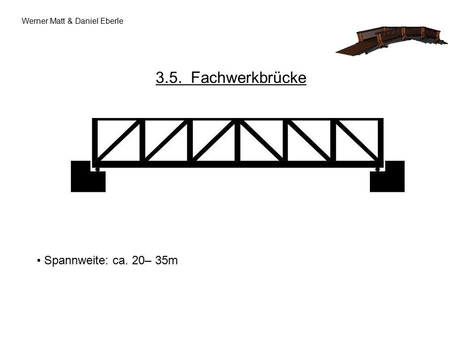 Werner Matt & Daniel Eberle 3.5. Fachwerkbrücke Spannweite: ca. 20– 35m