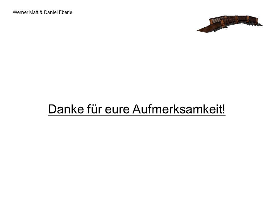 Werner Matt & Daniel Eberle Danke für eure Aufmerksamkeit!
