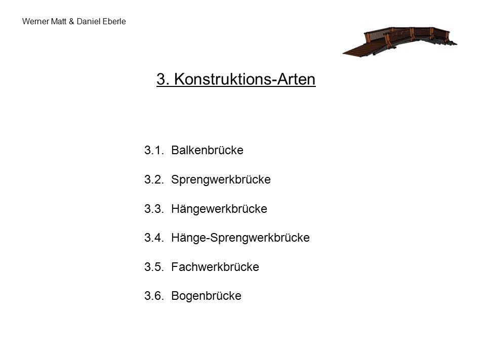 3.Konstruktions-Arten 3.1. Balkenbrücke 3.2. Sprengwerkbrücke 3.3.