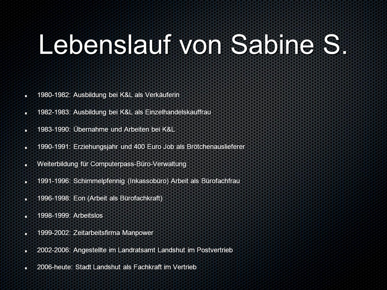 Lebenslauf von Sabine S.