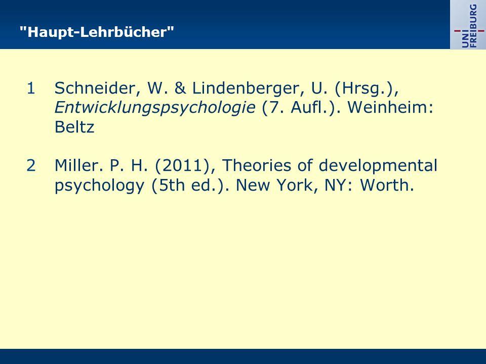 Haupt-Lehrbücher 1Schneider, W. & Lindenberger, U.