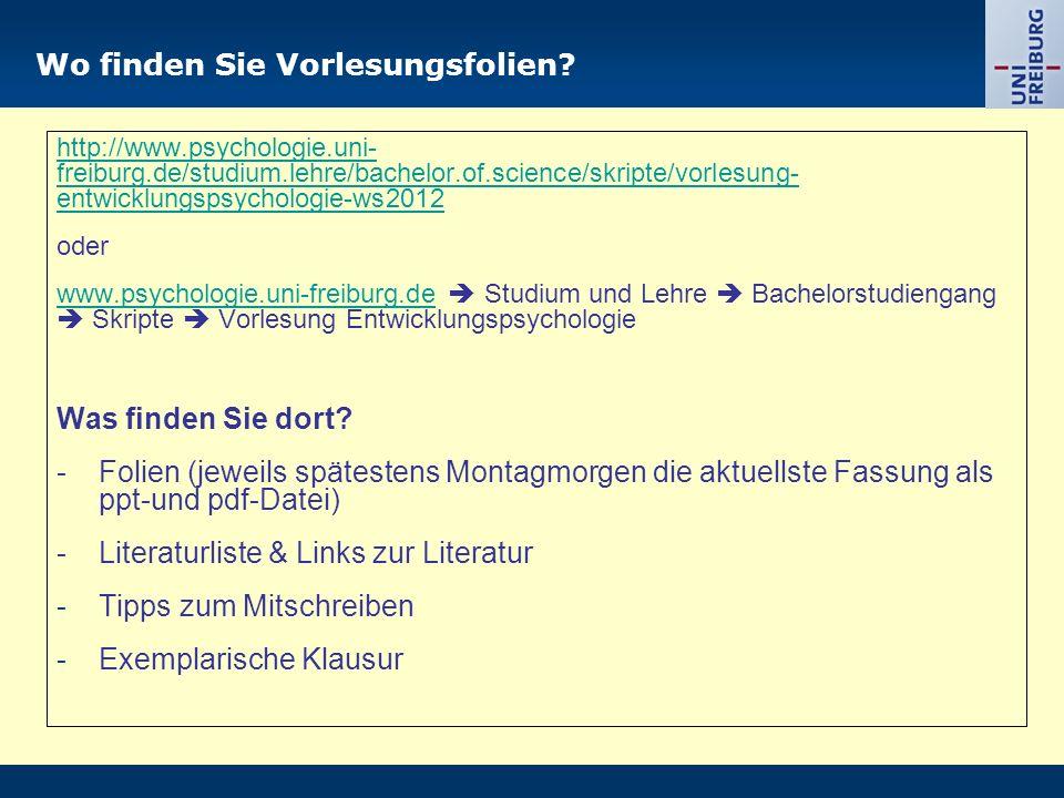 Kontakt: renkl@ps ychologie.uni- freiburg.d e URL: http://w ww.psych ologie.uni - freiburg.d e/einricht ungen/Pa edagogisc he/ Was war heute.