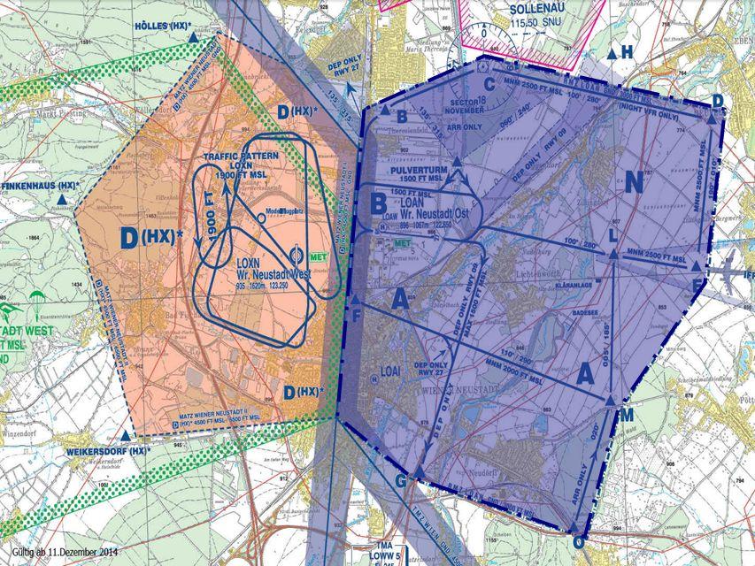 Schmidt 18 Die Kontrollzonen  Jeder Flughafen hat seine eigene Kontrollzone  Es gibt 6 Flughäfen in Österreich  Es gibt 6 zivile Kontrollzonen  Es gibt auch militärische Kontrollzonen wie z.B.
