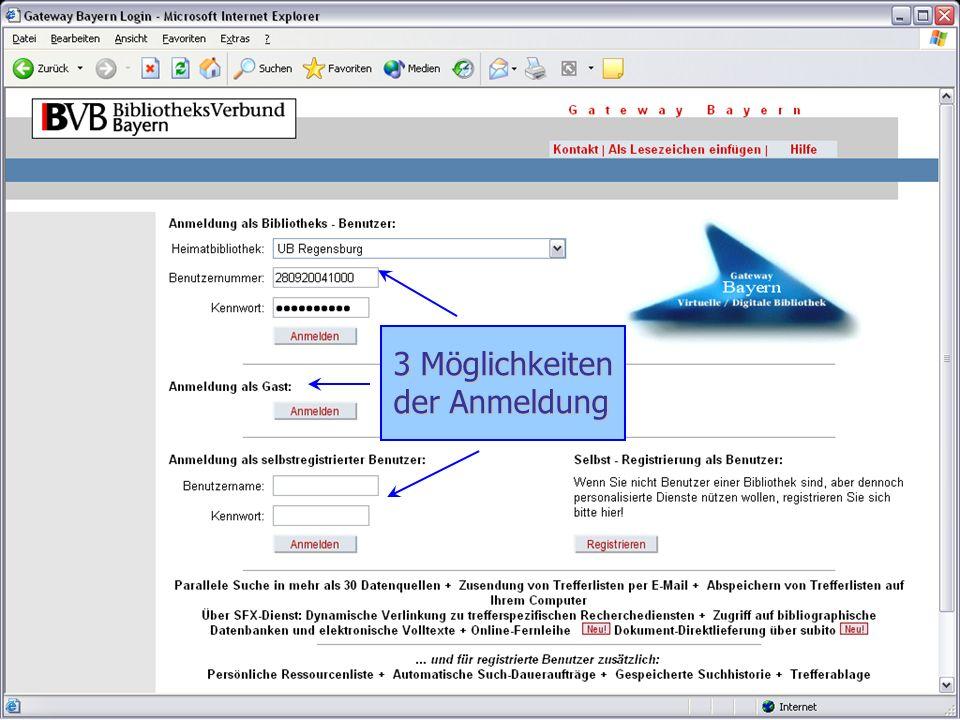 9. Mai 20054 Anmeldung 3 Möglichkeiten der Anmeldung