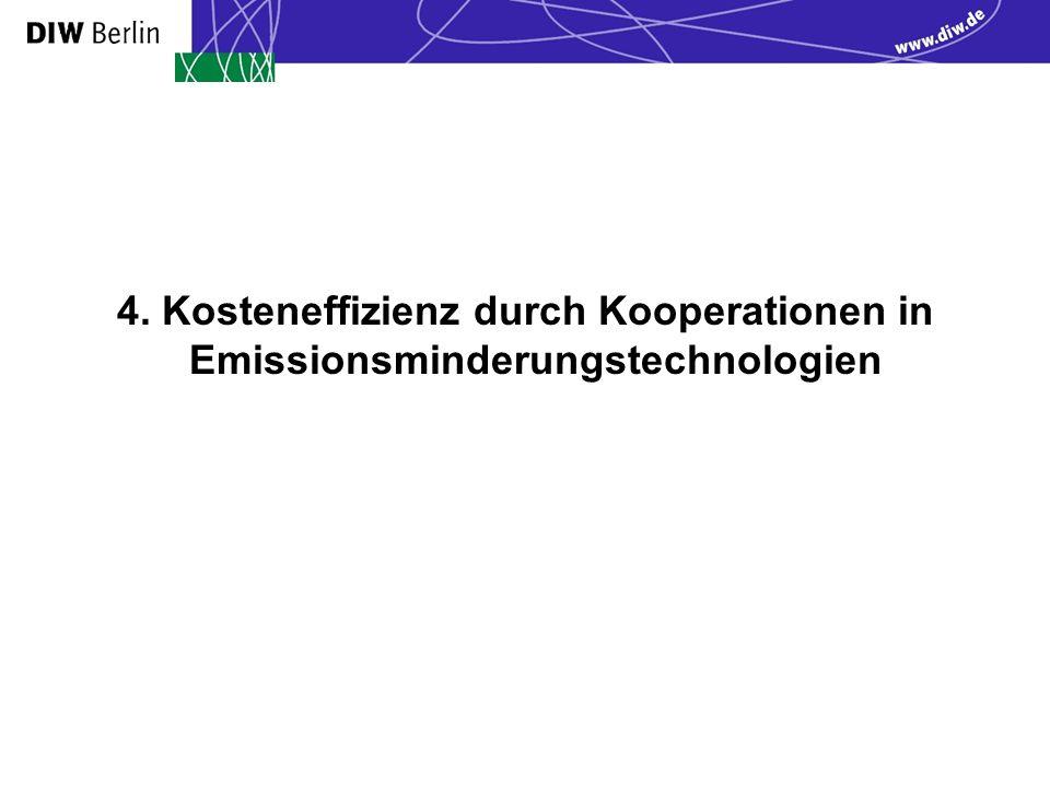 4. Kosteneffizienz durch Kooperationen in Emissionsminderungstechnologien