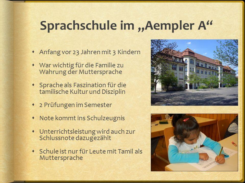 """Sprachschule im """"Aemtler A  Kindergarten (1.Klasse) Zeichen schreiben & Götter kennen  2."""
