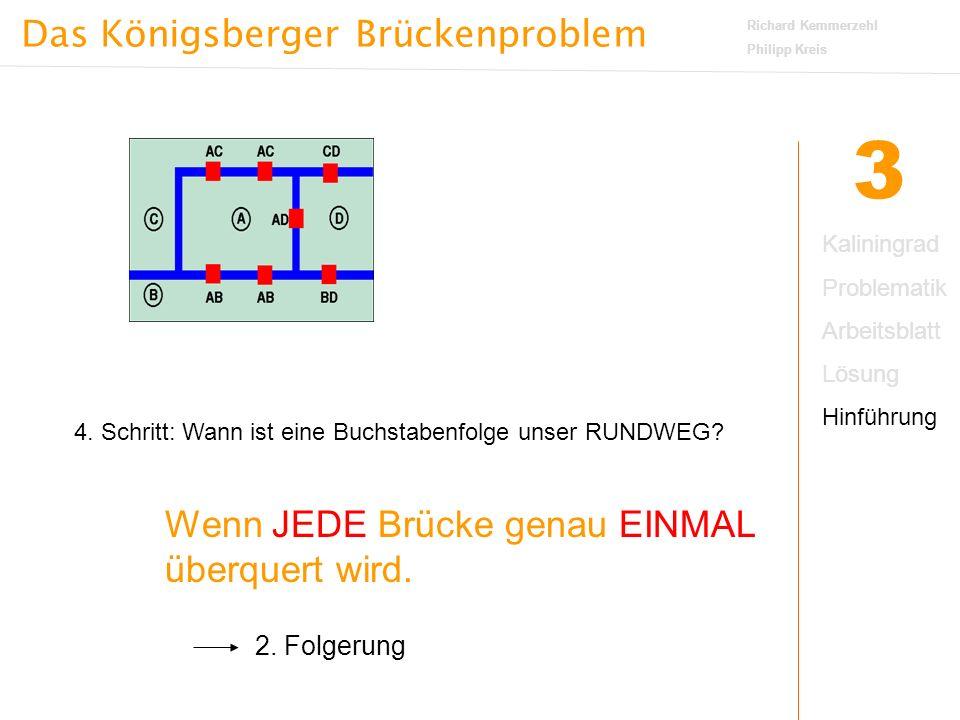 Das Königsberger Brückenproblem Richard Kemmerzehl Philipp Kreis 3 4.