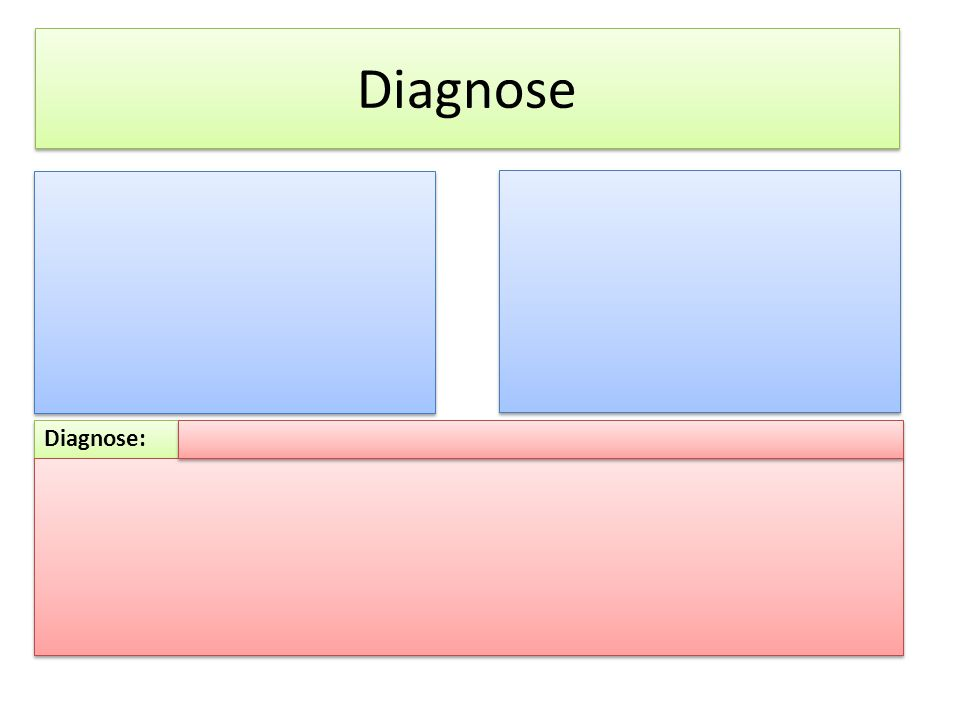 Diagnose: Diagnose