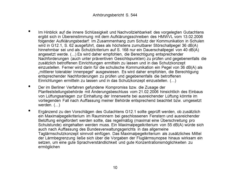 10 Anhörungsbericht S.