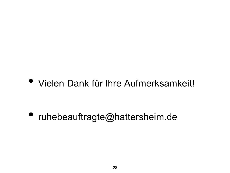 28 Vielen Dank für Ihre Aufmerksamkeit! ruhebeauftragte@hattersheim.de