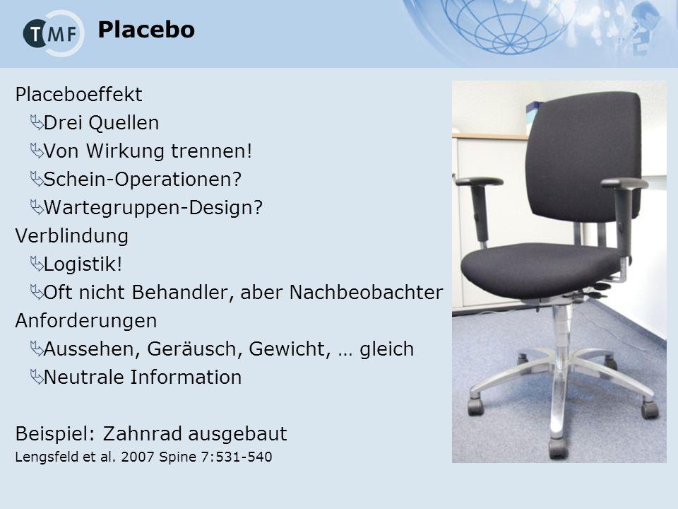 Placebo Placeboeffekt  Drei Quellen  Von Wirkung trennen.