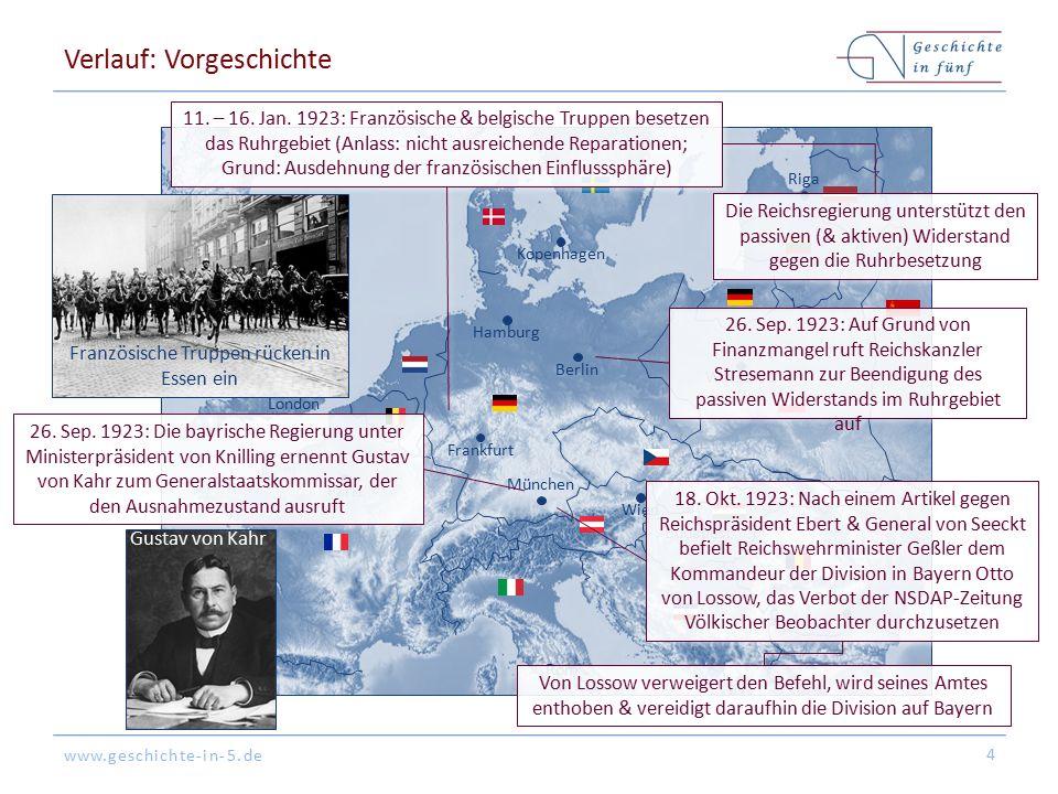 www.geschichte-in-5.de Berlin London Paris München Warschau Kopenhagen Wien Bukarest Frankfurt Hamburg Riga Budapest Rom Verlauf: Vorgeschichte 4 11.
