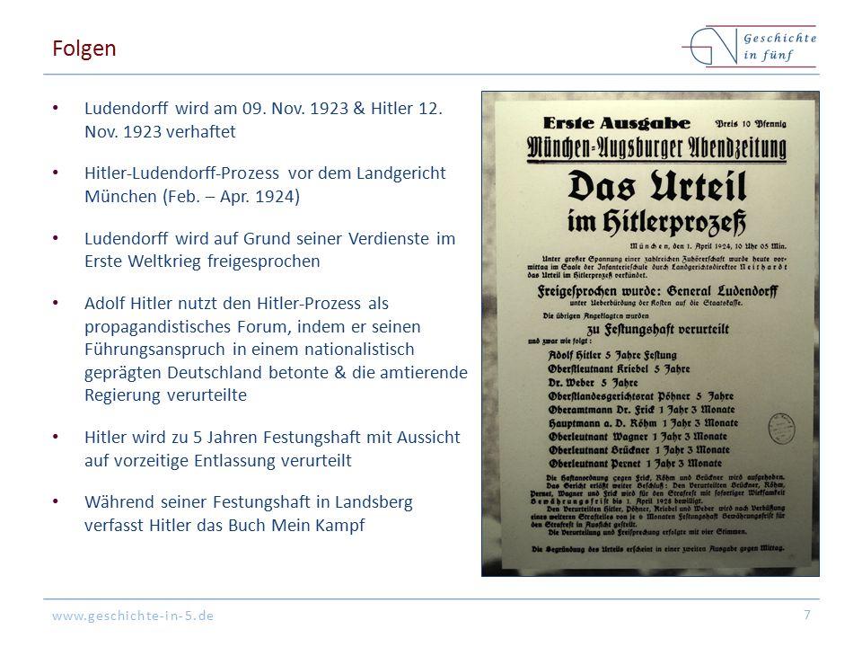 www.geschichte-in-5.de Folgen Ludendorff wird am 09.