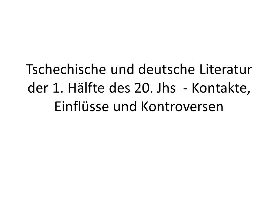 Tschechische und deutsche Literatur der 1. Hälfte des 20.