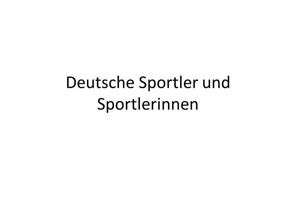Deutsche Sportler und Sportlerinnen