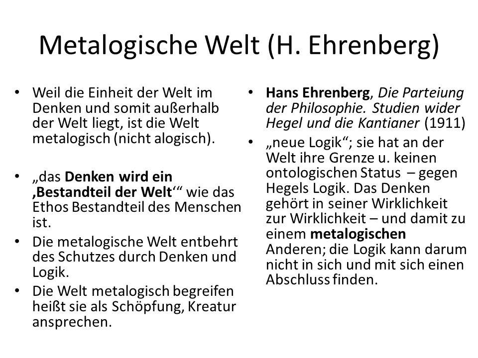 Metalogische Welt (H.