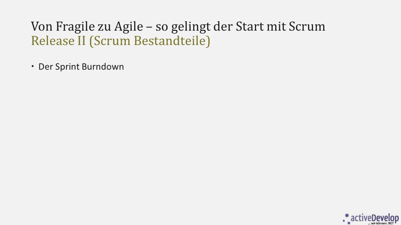 Von Fragile zu Agile – so gelingt der Start mit Scrum Release II (Scrum Bestandteile)  Der Sprint Burndown