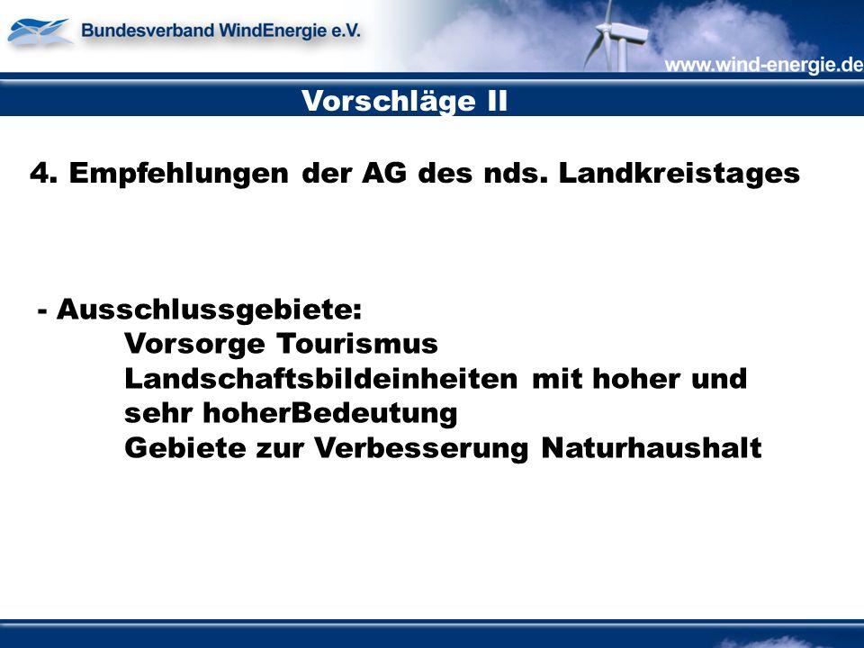 Vorschläge II 4. Empfehlungen der AG des nds.