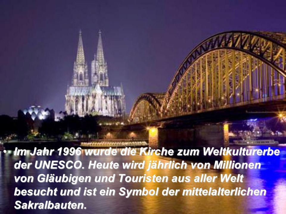 Im Jahr 1996 wurde die Kirche zum Weltkulturerbe der UNESCO.