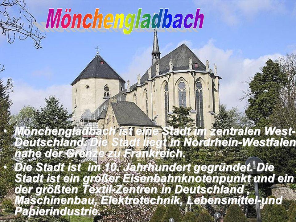 Mönchengladbach ist eine Stadt im zentralen West- Deutschland.