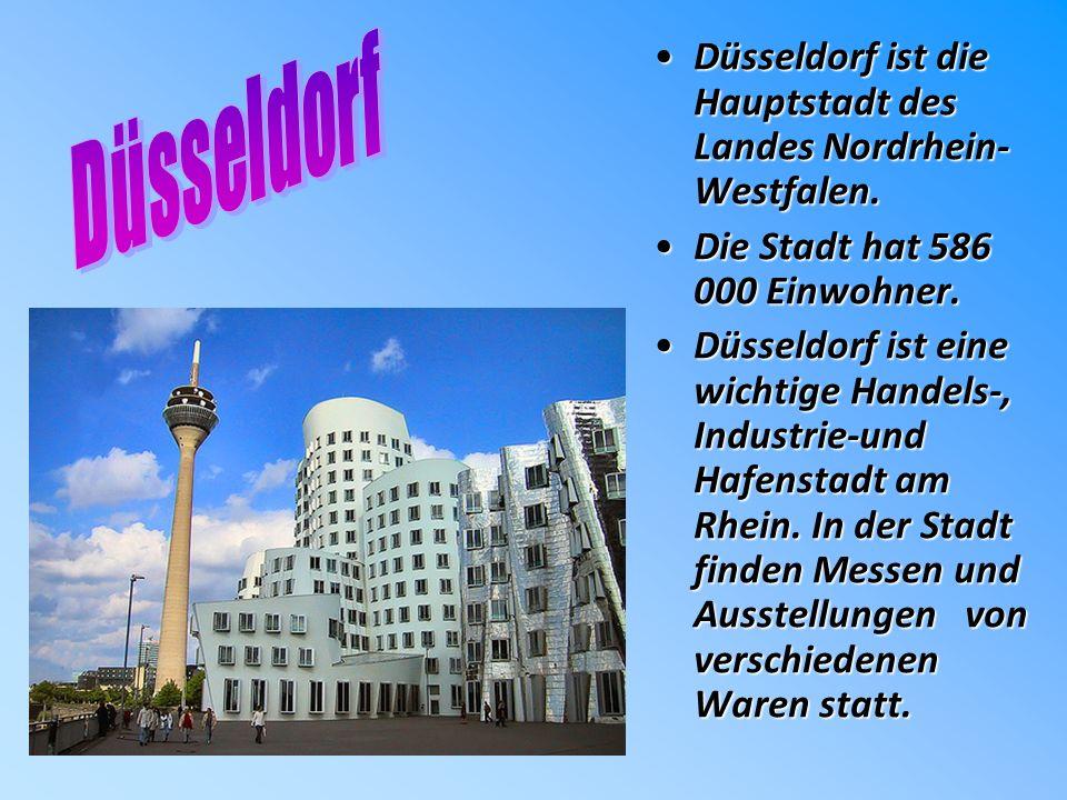 Düsseldorf ist die Hauptstadt des Landes Nordrhein- Westfalen.Düsseldorf ist die Hauptstadt des Landes Nordrhein- Westfalen.