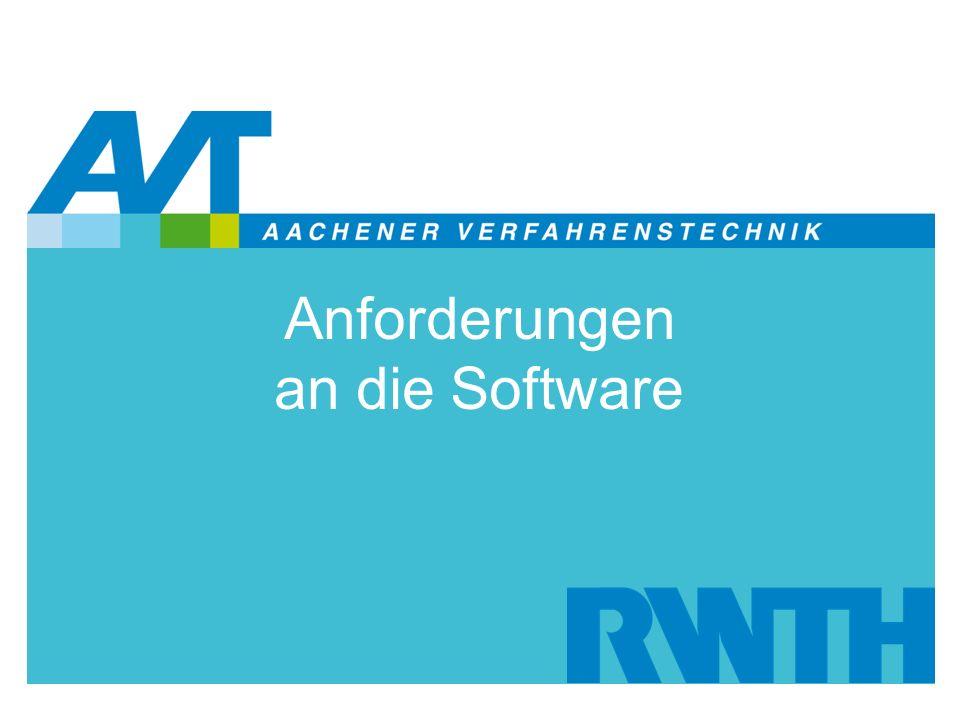 Anforderungen an die Software