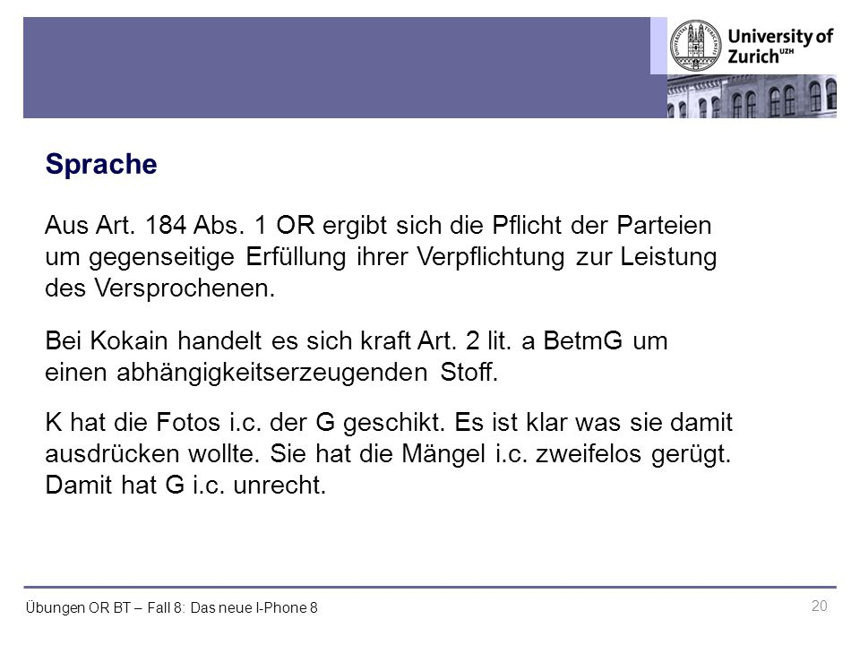 Übungen OR BT – Fall 8: Das neue I-Phone 8 Sprache 20 Aus Art.