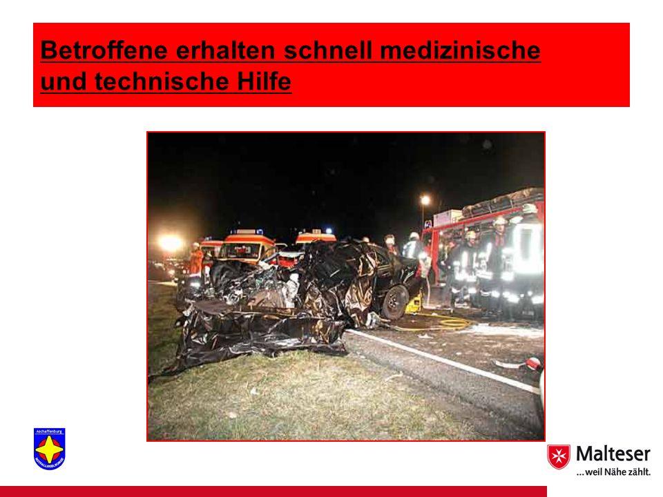 3Titel | Abteilung | Datum Betroffene erhalten schnell medizinische und technische Hilfe