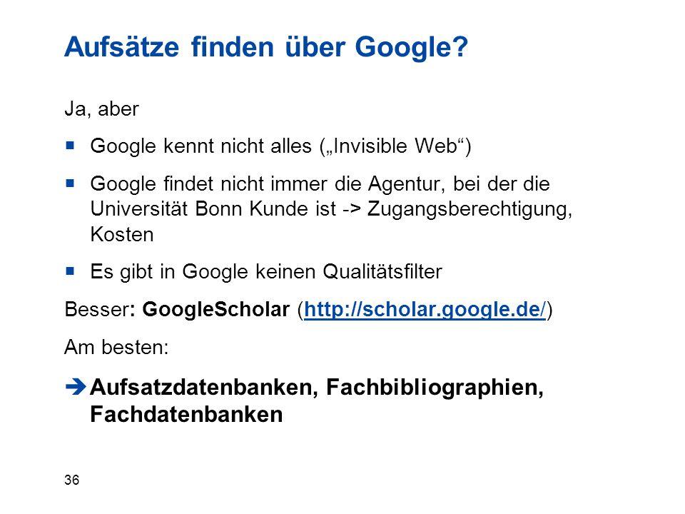 36 Aufsätze finden über Google.