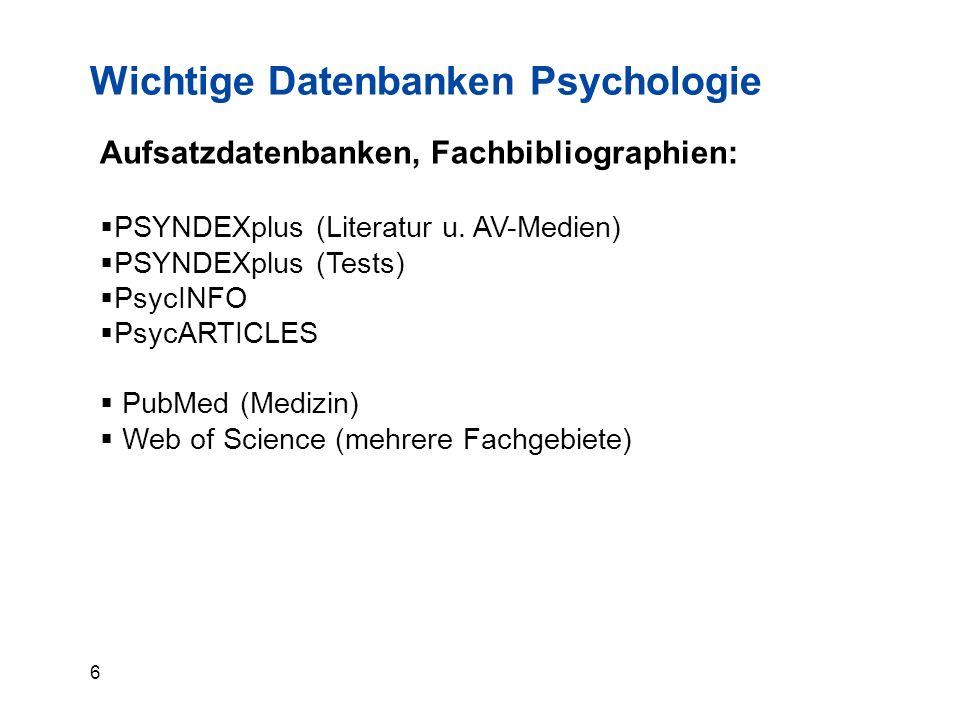 27 Wichtige Sigel:  5ULB Bonn Hauptbibliothek  5NULB Bonn Abteilungsbibliothek  5/…Universität Bonn, Institutsbibliothek  5/51Bibliothek des Instituts für Psychologie  98Bereichsbibl.