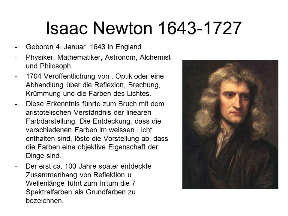 Isaac Newton 1643-1727 -Geboren 4.
