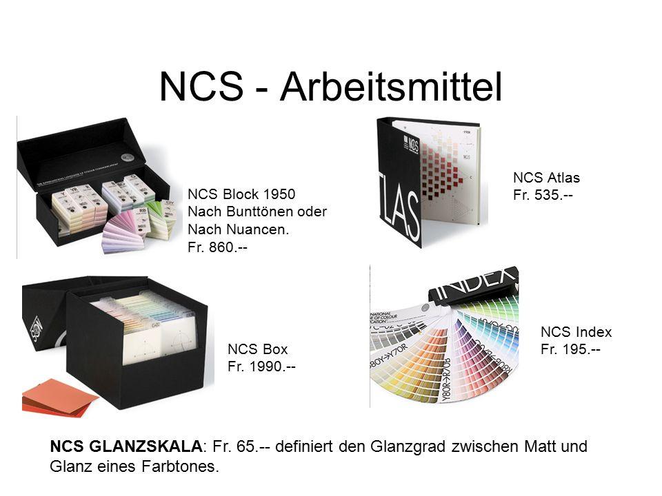 NCS - Arbeitsmittel NCS Block 1950 Nach Bunttönen oder Nach Nuancen.