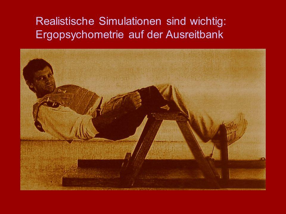 Realistische Simulationen sind wichtig: Ergopsychometrie auf der Ausreitbank