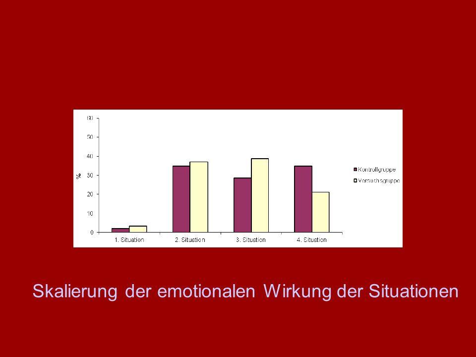 Skalierung der emotionalen Wirkung der Situationen