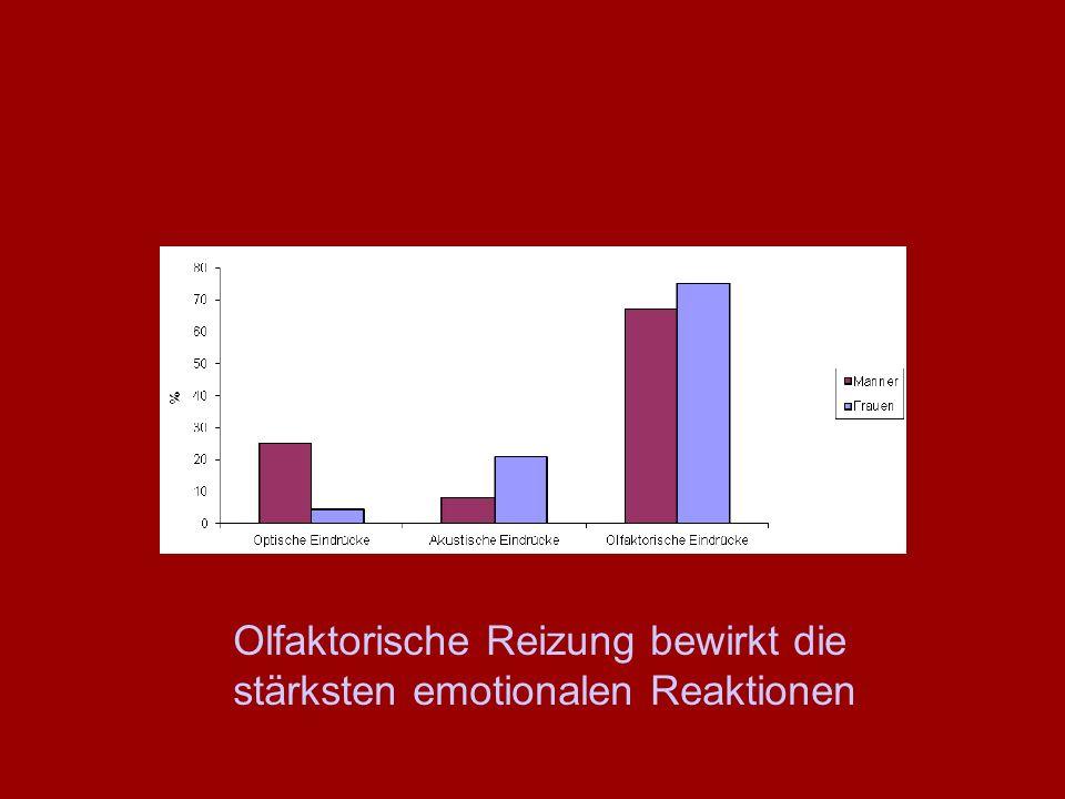 Olfaktorische Reizung bewirkt die stärksten emotionalen Reaktionen