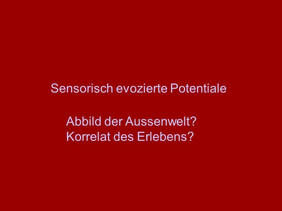 Sensorisch evozierte Potentiale Abbild der Aussenwelt? Korrelat des Erlebens?