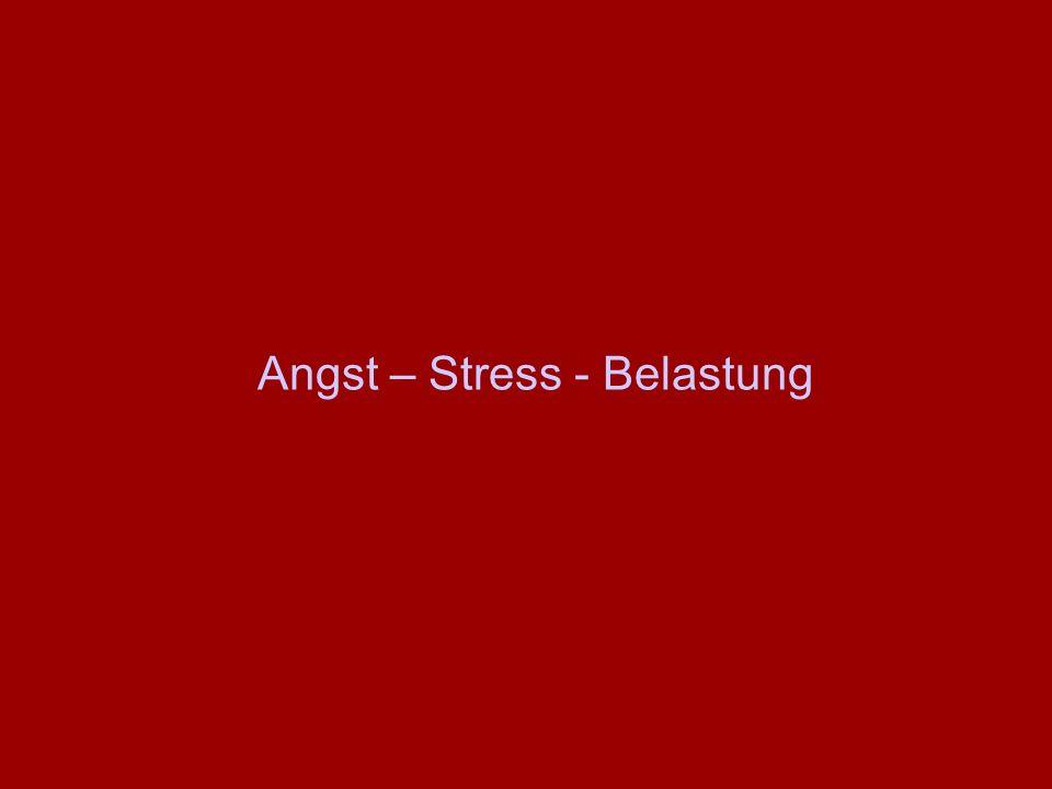 Angst – Stress - Belastung