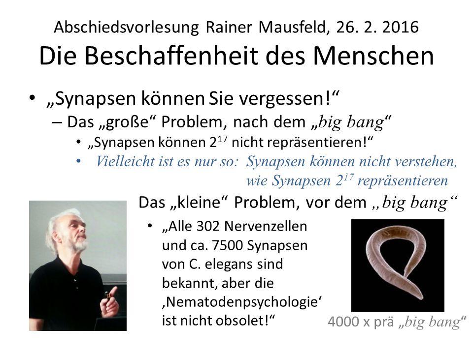 Abschiedsvorlesung Rainer Mausfeld, 26. 2.