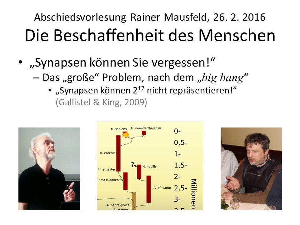 Abschiedsvorlesung Rainer Mausfeld, 26.2.