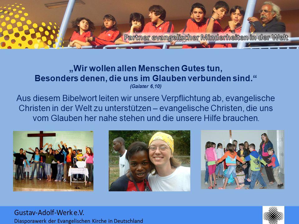 """""""Wir wollen allen Menschen Gutes tun, Besonders denen, die uns im Glauben verbunden sind."""" (Galater 6,10) Aus diesem Bibelwort leiten wir unsere Verpf"""