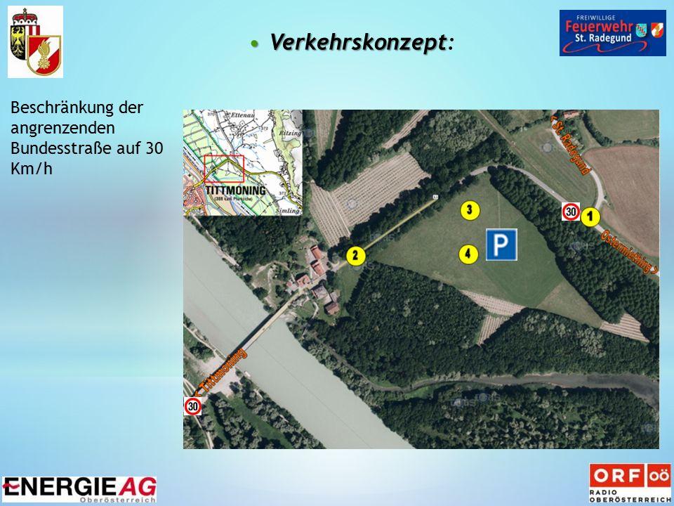 VerkehrskonzeptVerkehrskonzept: Beschränkung der angrenzenden Bundesstraße auf 30 Km/h