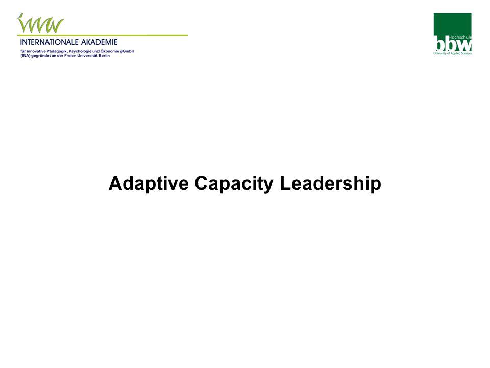 Adaptive Capacity Leadership