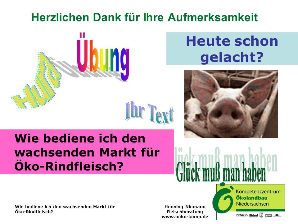 Wie bediene ich den wachsenden Markt für Öko-Rindfleisch.
