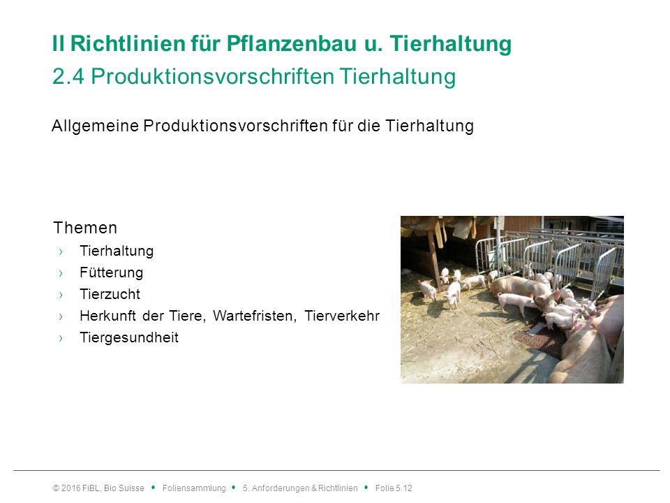 ll Richtlinien für Pflanzenbau u.