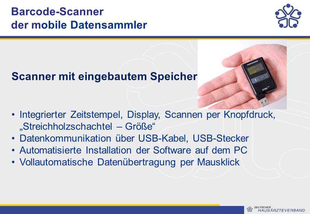 """Barcode-Scanner der mobile Datensammler Scanner mit eingebautem Speicher Integrierter Zeitstempel, Display, Scannen per Knopfdruck, """"Streichholzschachtel – Größe Datenkommunikation über USB-Kabel, USB-Stecker Automatisierte Installation der Software auf dem PC Vollautomatische Datenübertragung per Mausklick"""