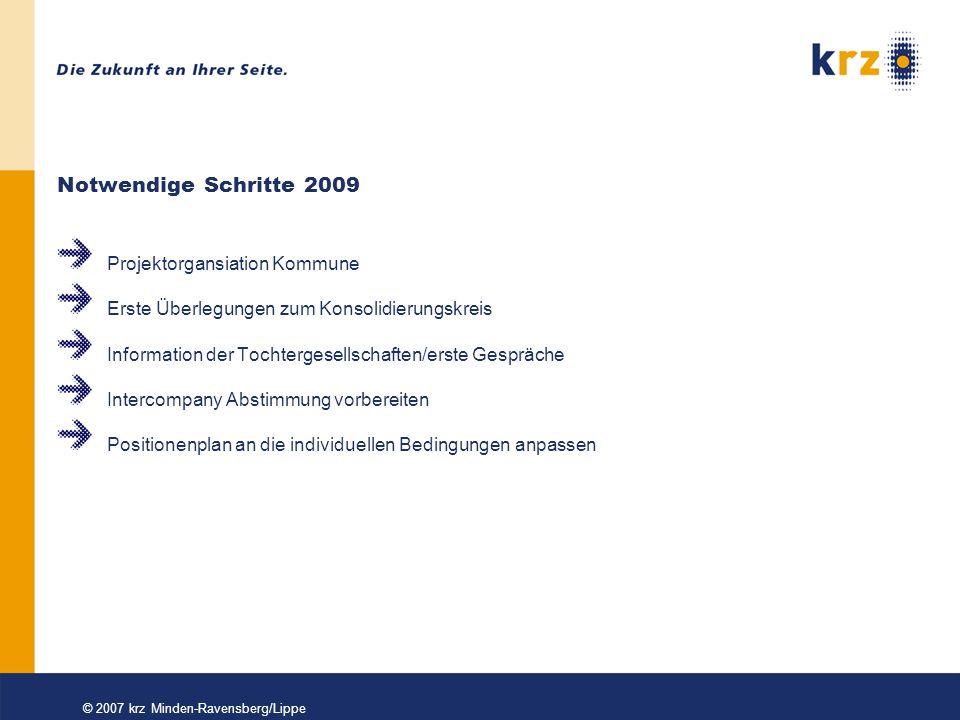© 2007 krz Minden-Ravensberg/Lippe Projektorganisation Kommune Wie sind die personellen Kapazitäten.