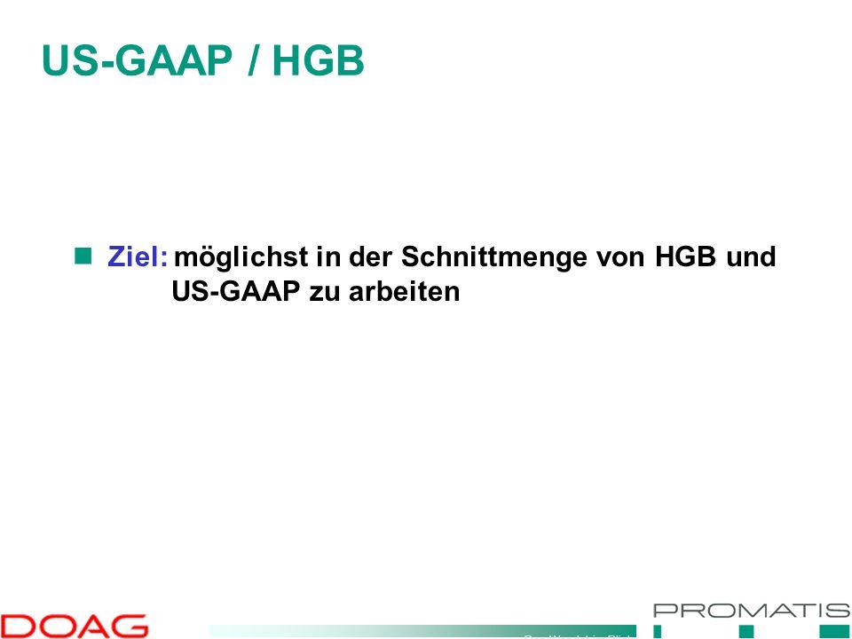 Den Wandel im Blick Ziel: möglichst in der Schnittmenge von HGB und US-GAAP zu arbeiten US-GAAP / HGB