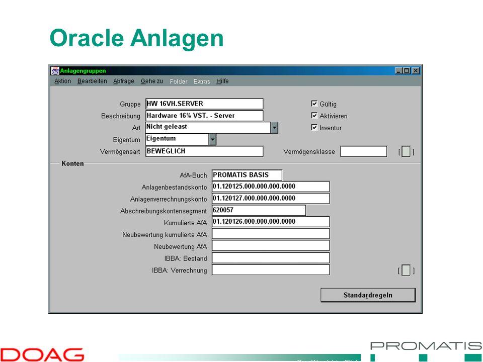 Den Wandel im Blick Oracle Anlagen