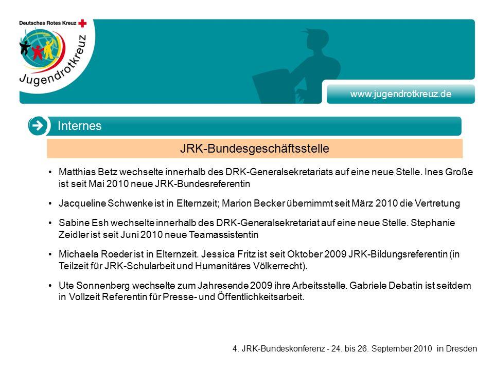 www.jugendrotkreuz.de Matthias Betz wechselte innerhalb des DRK-Generalsekretariats auf eine neue Stelle.